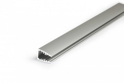 MIKRO10 ALU LED profil 6 mm-es plexi vagy üveglap megvilágítására ELOXÁLT