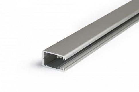 MIKRO-LINE12 ALU LED profil 8 mm-es Plexi vagy üveglap megvilágítására ELOXÁLT