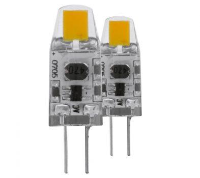 EGLO G4 LED 1,2W 360° 2700K 100 Lumen 12V DC 2 db/bliszter (dimmelhető)