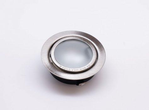 Halogén bútorvilágító ELMARK süllyeszthető, kör alakú SIM-5 szatén nikkel