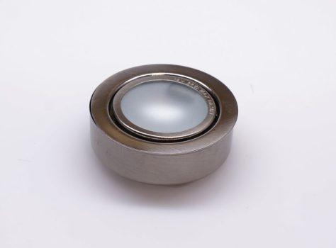 Halogén bútorvilágító ELMARK felületre szerelhető, kör alakú SIM-55 szatén nikkel