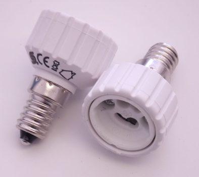 Foglalat átalakító adapter E14->GU10