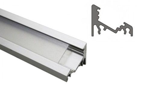 CORNER10 ALU LED profil 10 mm-es LED szalagokhoz NATUR-ELOXÁLT-FEKETE-FEHÉR