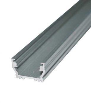 UNI12 ALU profil LED szalagokhoz NATUR-ELOXÁLT-FEKETE-FEHÉR