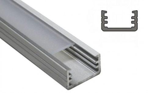 SLIM8 ALU LED profil 8 mm-es LED szalagokhoz NATUR-ELOXÁLT-FEHÉR-FEKETE