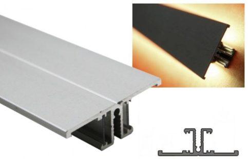 BACK ALU LED profil 10 mm-es LED szalagokhoz NATUR-ELOXÁLT