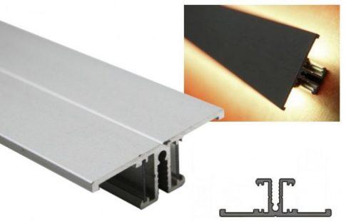 BACK ALU LED profil 10 mm-es LED szalagokhoz NATUR-ELOXÁLT-FEKETE-FEHÉR