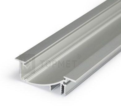 FLAT8 ALU profil LED szalagokhoz NATUR-ELOXÁLT-FEKETE-FEHÉR
