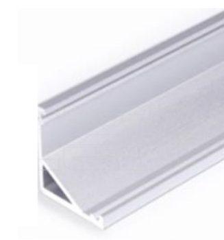 CABI12 ALU LED PROFIL LED szalag beépítéséhez NATUR-ELOXÁLT-FEKETE-FEHÉR