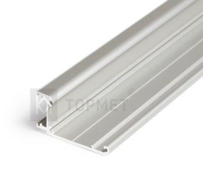 WALLE12 ALU LED profil LED szalagokhoz NATUR-ELOXÁLT-FEHÉR