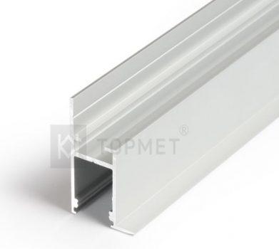 FRAME14 ALU profil LED szalagokhoz NATUR-ELOXÁLT-FEHÉR