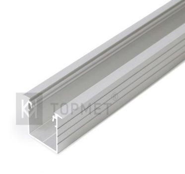 LINEA-IN20 ALU profil LED szalagokhoz NATUR-ELOXÁLT-FEHÉR