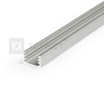 SLIM8 ALU LED profil 8 mm-es LED szalagokhoz NATUR-ELOXÁLT-FEKETE-FEHÉR