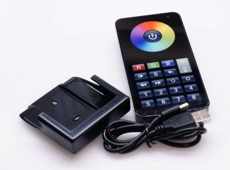 iPHONE stílusú RGB+W távszabályzó SL-1009FAWI WI-FI-s vagy SL-1009FA RF vezérlőkhöz