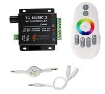 Rádiós Music 2 controller érintőgombos RGB vezérlő szett FEHÉR 216W/12V DC