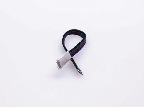 RGB (színváltós) LED szalaghoz tüskés betáp