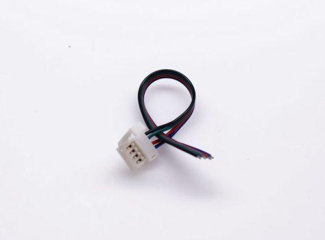RGB (színváltós) LED szalaghoz betáp 15 cm-es vezetékkel