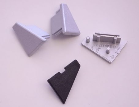 CORNER ALU LED profilhoz végzáró (Jobbos/Balos)