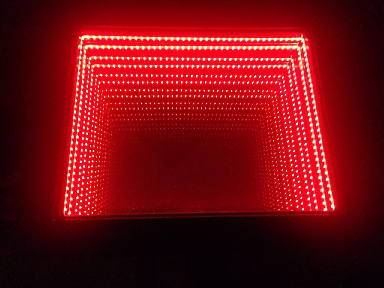 Infinity mirror - dohányzóasztal